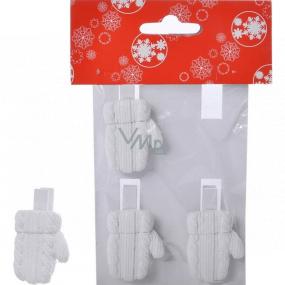 Rukavice na kolíčku polystone pletený vzor 4 kusy