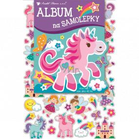 Album na samolepky hologram pro holčičky 16 x 29 cm + 40 kusů samolepek