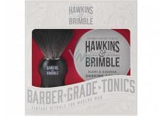 Hawkins & Brimble Men krém na holení 100 ml + štětka na holení, kosmetická sada pro muže