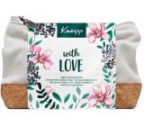 Kneipp S láskou Třešňový květ krém na ruce 75 ml + Černý bez balzám na rty 4,7 g + kosmetická taštička, kosmetická sada