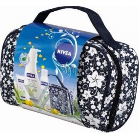 Nivea Kaznatural tělové mléko 400 ml + krém na ruce 100 ml + deodorant sprej 150 ml + taška, pro ženy kosmetická sada