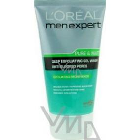 Loreal Paris Men Expert Pure & Matte čisticí peelingový gel 150 ml
