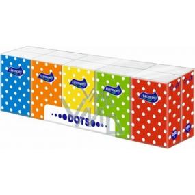 Harmony Dots papírové kapesníky 3 vrstvé 10 x 10 kusů