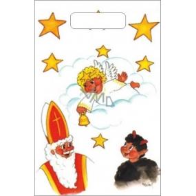Taška igelitová malá Mikuláš, čert, anděl, mrak 32 x 20 x 8 cm