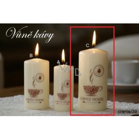 Lima Káva vonná svíčka krémová válec 60 x 120 mm 1 kus