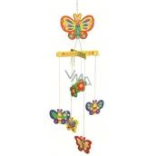 Puzzle dřevěné houpací 01 Motýli na zavěšení 20 x 15 cm