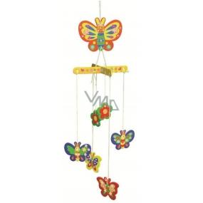 Dřevěné puzzle houpací závěs 01 Motýli 20 x 15 cm