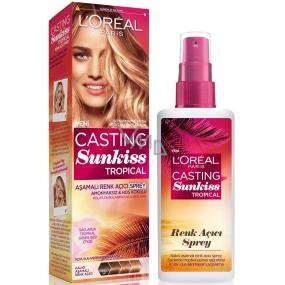 Loreal Paris Casting Sunkiss Tropical postupně zesvětlující sprej pro tmavě hnědé až blond vlasy 125 ml