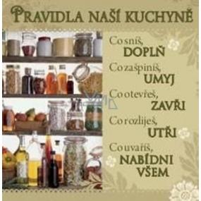 Albi Dárková kuchyňská utěrka s potiskem - Pravidla kuchyně 70 x 35 cm