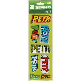 Nekupto 3D Samolepky se jménem Petr 8 kusů 062