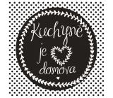 Bohemia Gifts Dekorační obraz na zavěšení Kuchyně 30 x 30 cm