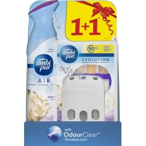 Ambi Pur 3 Volution Moonlight Vanilla elektrický osvěžovač náplň 3 x 20 ml + osvěžovač vzduchu sprej 300 ml, duopack