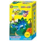 Jumping Clay Dinosaur - Stegosaurus samoschnoucí modelovací hmota 28 g + kostra dinosaura + tvořítko 5+