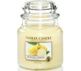 Yankee Candle Sicilian Lemon - Sicilský citrón vonná svíčka Classic střední sklo 411 g