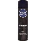Nivea Men Deep 48 hodinová ochrana proti pocení antiperspirant deodorant sprej pro muže 150 ml