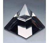 Skleněná pyramida hladká křišťál 50 mm