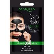 Marion Detox Black Peel Off s aktivním dřevěným uhlím a lékořicovým extraktem pro uvolnění pórů slupovací pleťová maska 6 g