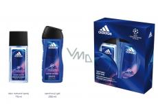 Adidas UEFA V parfémovaný deodorant sprej 75 ml + sprchový gel 250 ml kosmetická sada pro muže