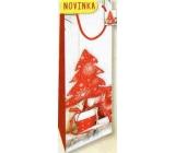 Nekupto Dárková papírová taška na láhev 33 x 10 x 9 cm Vánoční 1817 30 WLH