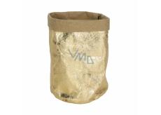 Albi Eko košík vyrobený z pratelného papíru, malý - zlatý, výška 14 cm
