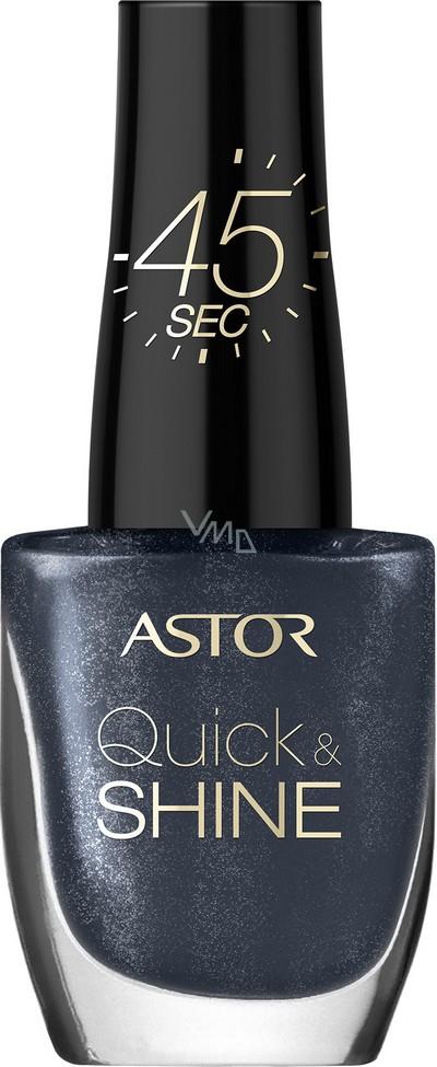 Astor Quick & Shine Nail Polish lak na nehty 602 Lady In Black 8 ml