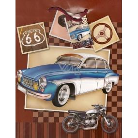 Nekupto Dárková papírová taška střední 1051 01 BM auto, motorka 23 x 18 x 10 cm