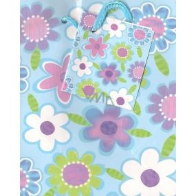 Nekupto Dárková papírová taška malá 14 x 11 x 6,5 cm květinky, 1040 40 BS
