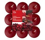 Bolsius Aromatic Lovely Cranberry - Půvabná Brusinka vonné čajové svíčky 18 kusů, doba hoření 4 hodiny