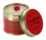 Bomb Cosmetics Brusinka a Limetka Vonná přírodní, ručně vyrobena svíčka v plechové dóze hoří až 35 hodin