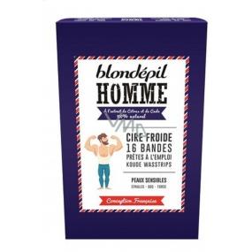Blondépil Homme Depilační voskové pásky pro muže 16 kusů