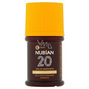 Nubian OF20 Voděodolný olej na opalování 60 ml