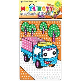 Mozaika dopravní prostředky náklaďák 23 x 16 cm