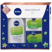 Nivea Urban Skin Defence denní krém 50 ml + Urban Skin Detox noční krém 50 ml + Urban Skin Detox micelární voda 400 ml, kosmetická sada