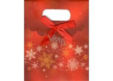 Albi Dárková papírová taška malá Veselé Vánoce 11 x 13,5 x 6,5 cm