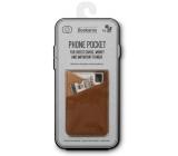 If Bookaroo Phone Pocket Pouzdro - kapsička na telefon na doklady hnědý 195 x 95 x 18 mm