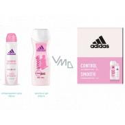 Adidas Control Smooth antiperspirant deodorant sprej pro ženy 150 ml + sprchový gel 250 ml, kosmetická sada