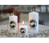 Lima Horoskop Ryby svíčka válec 50 x 100 mm 1 kus