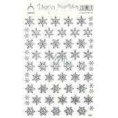 Arch Holografické dekorační samolepky vánoční vločky stříbrné 1 arch