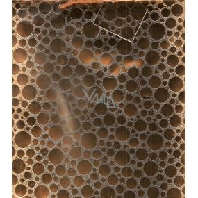 Nekupto Dárková papírová taška velká 060 03 GL zlatá lesklá 23 x 18 x 10 cm