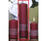 Lima Stuha svíčka vínová válec 60 x 220 mm 1 kus