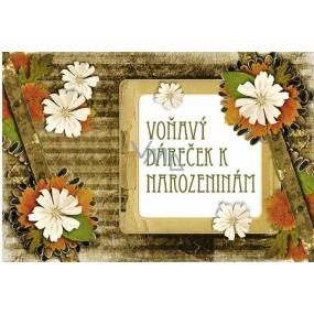 Bohemia Vonný sáček Voňavý dáreček Vlčí mák k narozeninám 17 x 11,5 x 1,5 cm