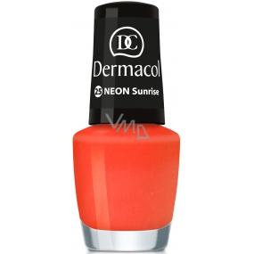Dermacol Neon Polish Neonový lak na nehty 25 Sunrise 5 ml