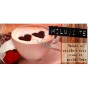 Albi 3D belgická mléčná čokoláda Miluji Tě 50g, 6,2 x 13,cm