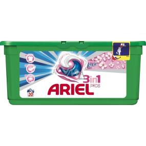 Ariel 3v1 Touch of Lenor Fresh gelové kapsle na praní prádla 30 kusů