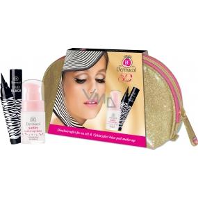 Dermacol Bambi Black Sensation dlouhotrvající fix na oči černá 2,7 ml + Dermacol Satin Make-up Base vyhlazující báze pod make-up 15 ml + etue, kosmetická sada