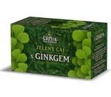 Grešík Zelený čaj s gingem nálevové sáčky 20x1,5 g působí příznivě na duševní a fyzické schopnosti