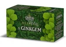 Grešík Zelený čaj s ginkgo působí příznivě na zlepšení paměti, krevní oběh v mozku nálevové sáčky 20x1,5 g