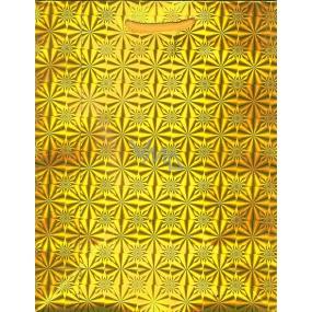 Nekupto Dárková papírová taška střední 23 x 18 x 10 cm Zlatá hologramová 050 01 THM