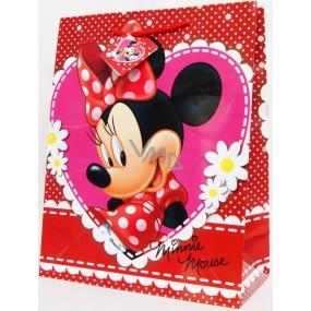BSB Disney Dárková papírová taška dětská 32,4 x 26 x 12 cm Minnie DT L