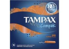 Tampax Compak Compak Super Plus dámské tampony s aplikátorem 16 kusů